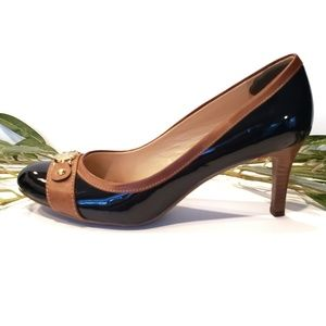 Tommy Hilfiger Navy Patent Leather Heels Size 9M